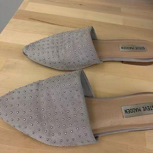 Steve Madden Shoes - Steve Madden Grey Studded Mule